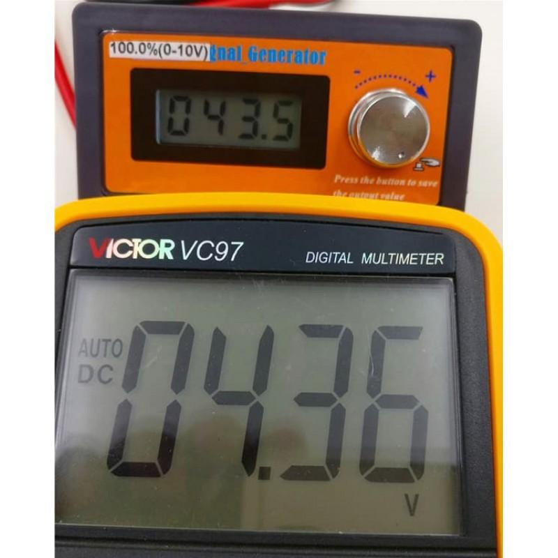 Panel mounted 0-10V 0-10V Voltage Signal Generator Panel Meter
