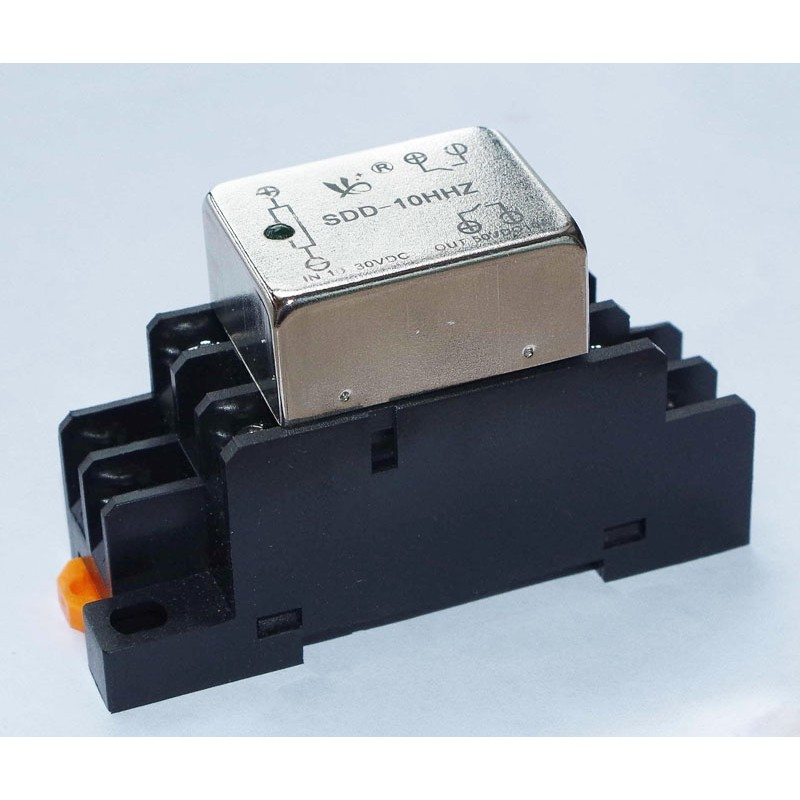 10A Dual NC Output Solid State Relay with DIN Rail Socket Dc Solid State Relay Wiring on