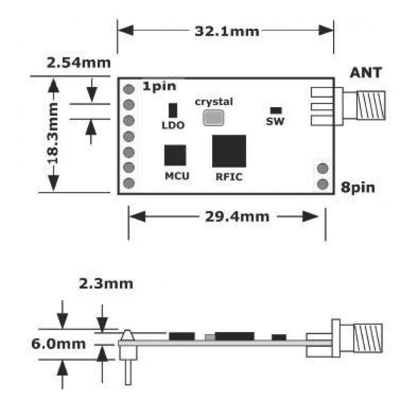 Rf Module 433Mhz Circuit Diagram | 433mhz 470mhz 915mhz 868mhz Lora Rf Transmitter Receiver Kit