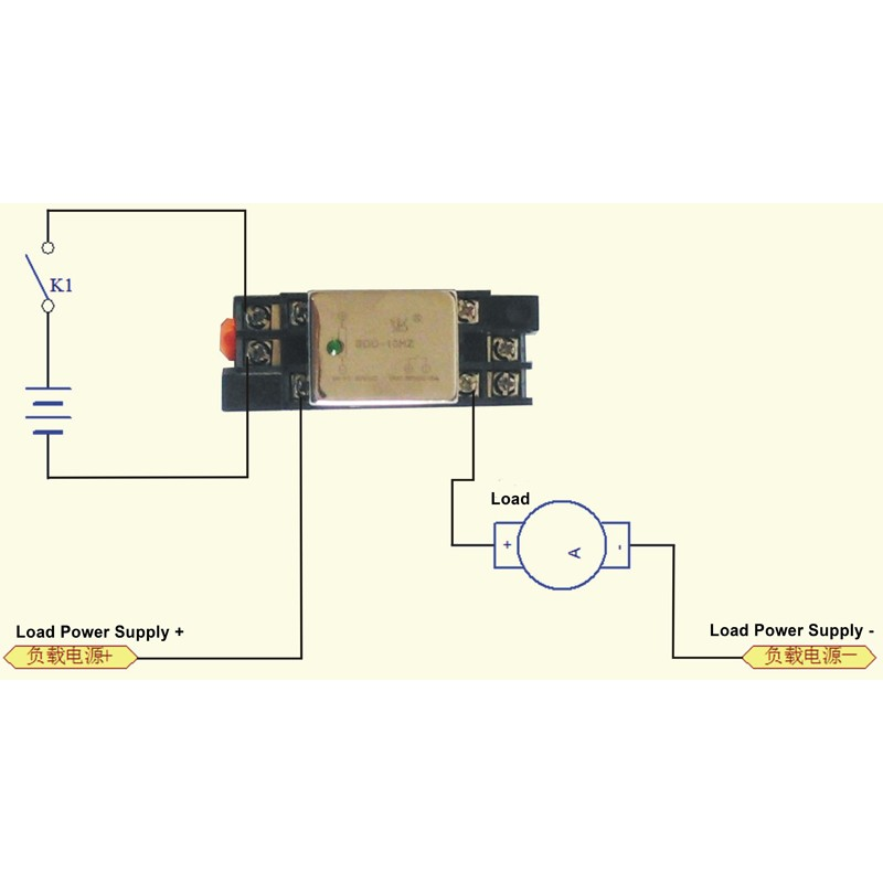 10A DC Solid Relay Module Small Size Din Rail-mounted Socket