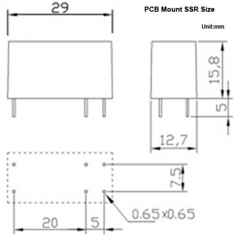 7A Normally Open DIN Rail or PCB-mount Solid State Relays