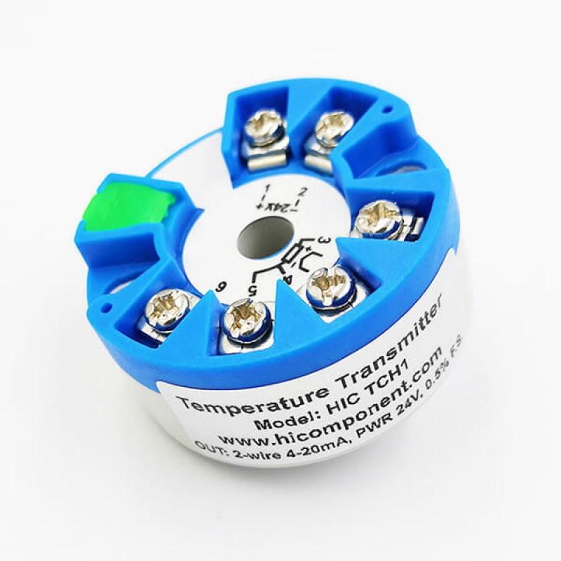 Pt100 Temperature Transmitter Sensors 0-150℃ 4-20mA Output 0.2/% Accuracy Module