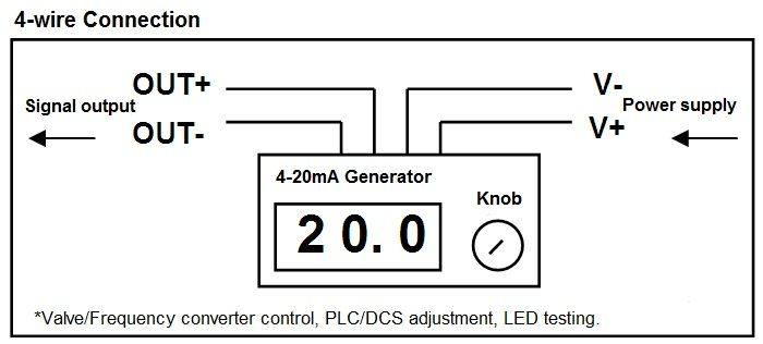 4-20Ma Signal Generator Circuit Diagram   4 20ma Current Signal Generator Kit